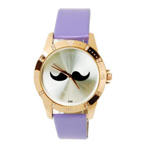 SSITG Reloj Cuarzo Barba Reloj de Pulsera Reloj Trend Blogger Retro Vintage Watch Regalo Gift ss00155