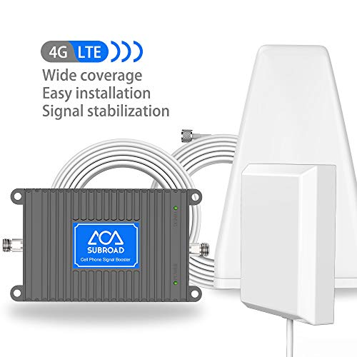 Telincall Signal Booster Verizon AT&T T-Mobile Cell Phone Signal Booster Subroad 4G LTE - Dual 700Mhz Band 12/13/17 Mobile Cellular Amplifier Repeater Kit for Home, Signal Coverage Up to 5,000 Sq Ft