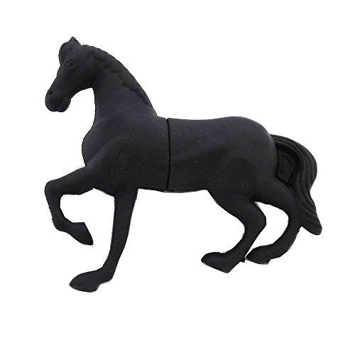 Chiavetta di memoria USB da 16GB, modello animale cartone animato, gatto nero, Aneew Horse 16 Gb