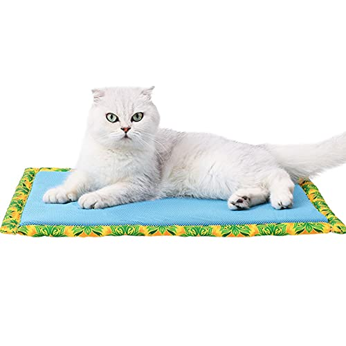 Macddy Alfombrilla Antideslizante para Mascotas, colchoneta refrigerante para Dormir para Gatos y Perros, Cojines autorefrigerantes para Cama, Almohadilla refrigerante para Nido de Hielo en Verano