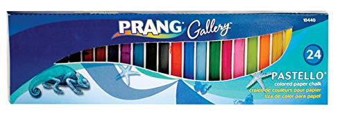 Prang Pastello Art Chalk for Paper, 24 Assorted Colors per Box (10440)