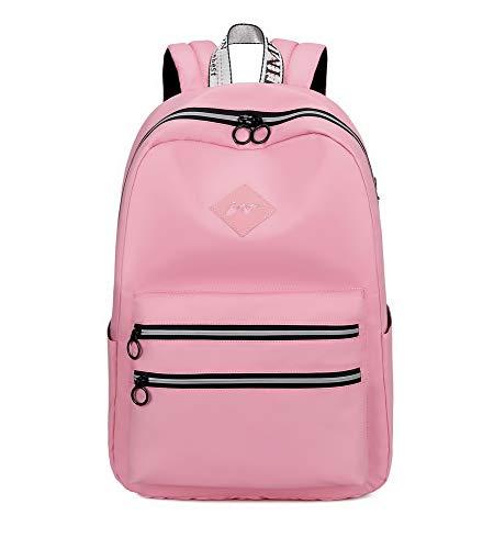 Joymoze Mochila Escolar Impermeable para niño y niña Mochila para Adolescente Mochila para Mujer Rosado