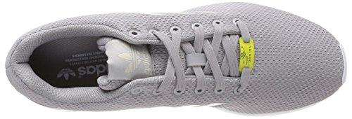 adidas Zx Flux, Unisex Adults Training Running Shoes, Grey (Aluminum/Aluminum/Running White), 10 UK (44 2/3 EU)