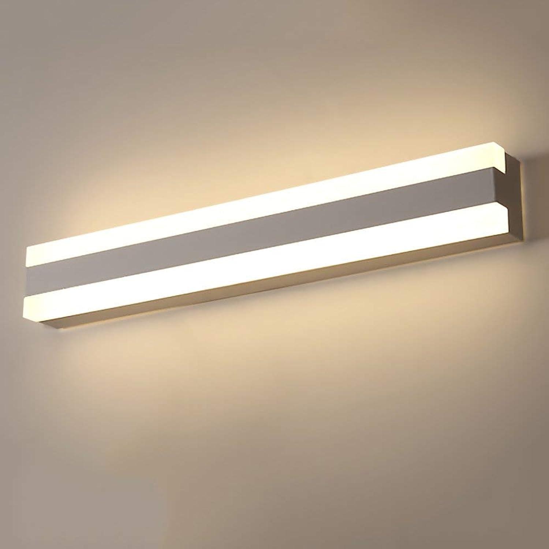LModern Spiegel vorne Licht Bad Make-up-Spiegel Schaltschrankleuchten Damp-proof Acryl Spiegel Licht Einbau-lautstrkesteller Schminkspiegel (Farbe  warmes Licht-40cm-15W)