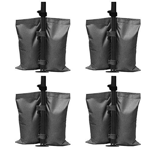 Sacca per gazebo con doppia cucitura, resistente per pesi, per tende a baldacchino, ombrellone, confezione da 4