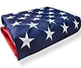 American Flag 3x5 Outdoor, US Flag Nylon Made in USA, Embroidered Stars/Sewn Stripes/UV Protection/Brass Grommets, USA Flag Built for Outdoor Use