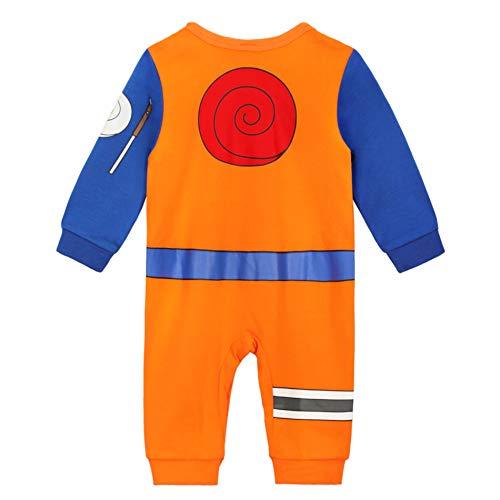 Body manga bebé   Pijama para niño y niña Anime Kawaii   Traje de disfraz 100% algodón Naruto. 6-12 Meses