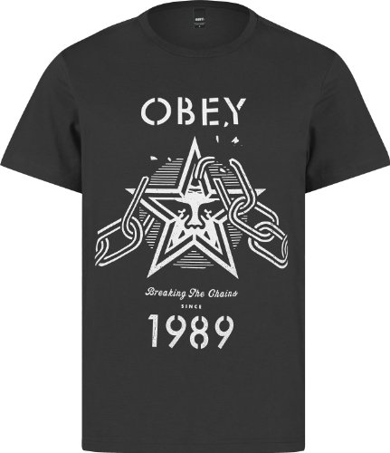 Obey - Camiseta - Hombre negro Talla:medium