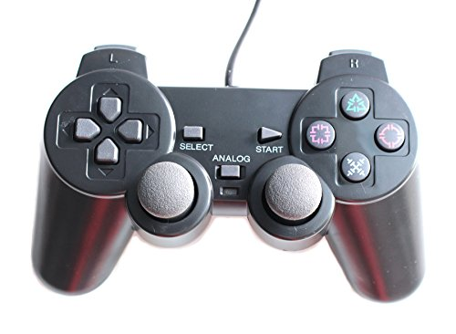 HaoYiShang Dual-Vibration Wired Game Controller kompatibel für Sony PS2 Konsole Videospiel
