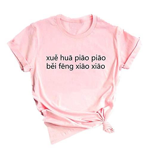 Masrin T-shirt à col rond et manches courtes pour femme M Rose