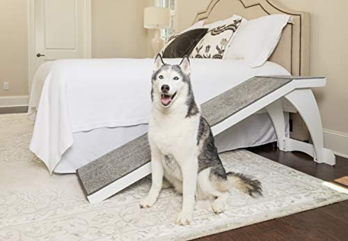 PetSafe CozyUp Bed Ramp - Durable Wooden Frame Supports up to 120 lb - Furniture Grade Wood Pet Ramp...