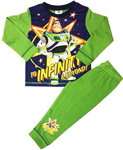 Disney Jungen Toy Story Buzz Lightyear Schlafanzug lang, Größe 18 Monate bis 5 Jahre, grün, 98