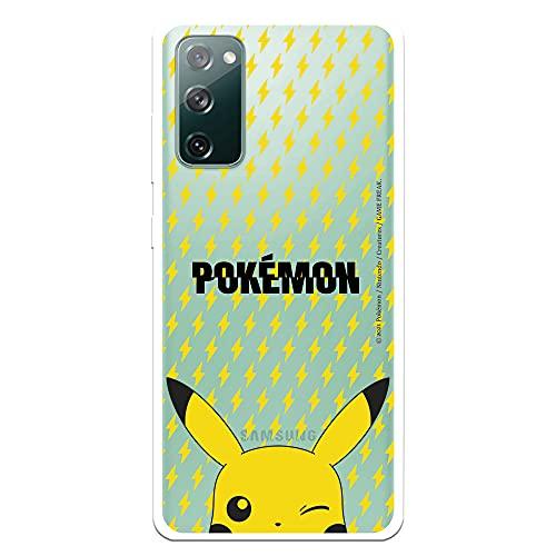 Funda para Samsung Galaxy S20 FE Oficial de Pokémon Patrón Sticker Poké Ball. Elige el diseño Que más te guste para tu Samsung Galaxy S20 FE
