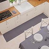 PETTI Artigiani Italiani - Alfombra de Cocina Antideslizante y Lavable, 52 x 280 cm, diseño Liso Gris Humo, 100 % Fabricada en Italia