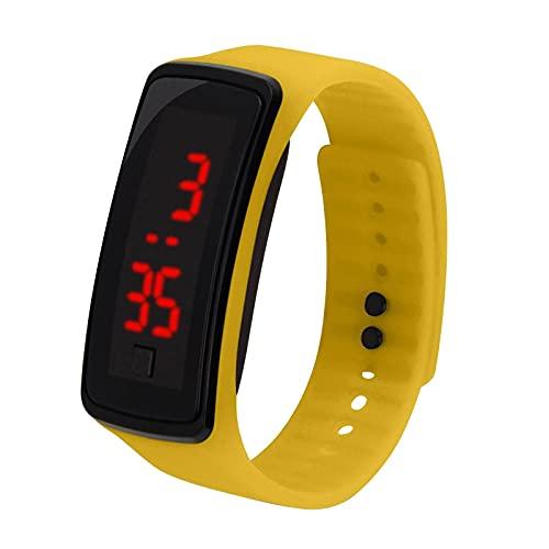 MOMONIHAO Kinder LED Elektronische Uhr Jungen und Mädchen Mode Digitaluhr Sportuhr Digitale Kinderuhr Teaching Handgelenk Uhren mit Silikon Armband