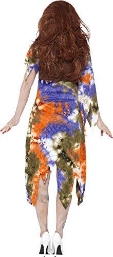 SMIFFYS Smiffy's 61105M - Costume Hippie Lady di Zombie 60 con Annesso Gilet e Foulard, M