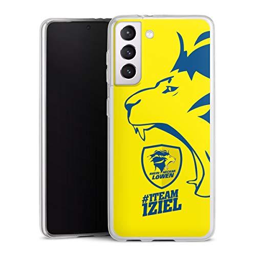 DeinDesign Slim Case extra dünn kompatibel mit Samsung Galaxy S21 5G Silikon Handyhülle transparent Hülle Rhein-Neckar-Löwen Offizielles Lizenzprodukt Handball