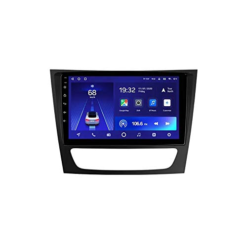 2 DIN Car Stereo 9 Pulgadas HD Pantalla Táctil Soporte Llamadas Manos Libres/BT/Navegación GPS/1080P Video, para Mercedes Benz E/CLS Clase/S211/W211/C219 Radio De Coche,Octa Core,4G WiFi 4+64