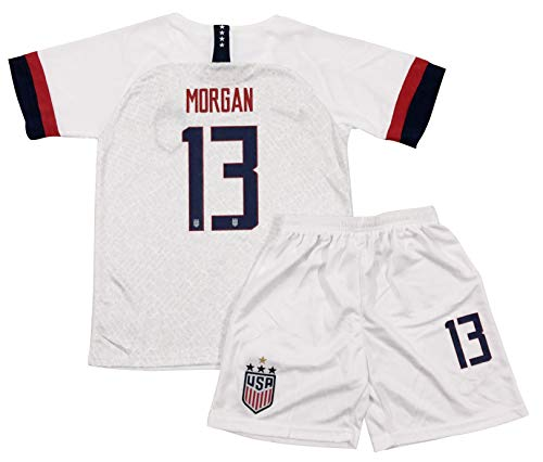 Rowex New Morgan 13 USA Home Jersey & Shorts for Kids & Youths (Small - 5-6 Yrs Old) White