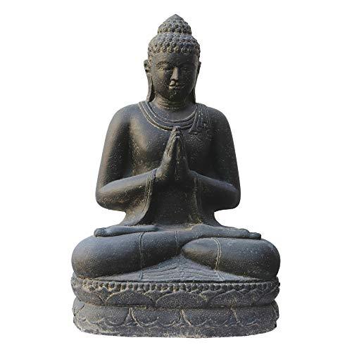 Salutation du Bouddha assis, 100 cm, figurine en pierre, coulé en pierre, résistant au gel
