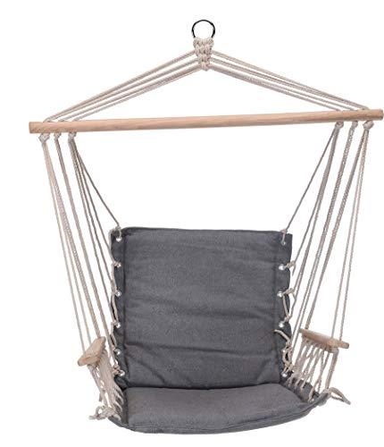 made2trade Hängesessel aus Baumwolle - 100x53cm - Traglast bis zu 120kg - Grau
