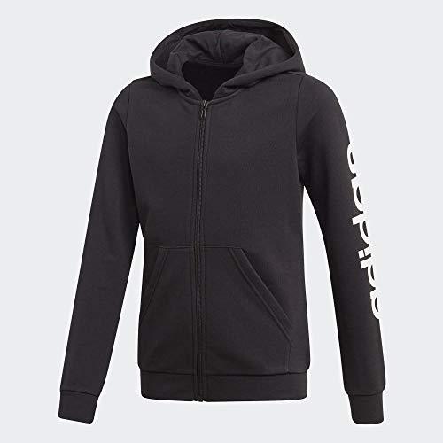 adidas YG E Lin FZ HD Sudadera, Niñas, Black/White, 4-5Y