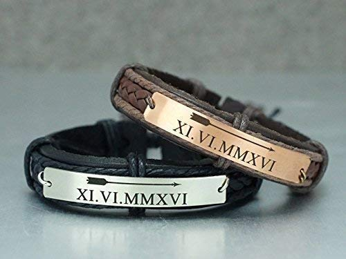 Date Bracelet Custom Bracelets Couples Bracelets Anniversary Personalized Macrame Bracelet Couples Date Bracelets Set of 2