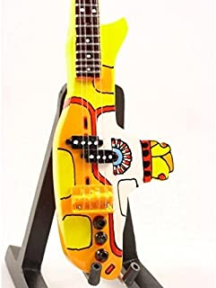 BEATLES YELLOW SUBMARINE Mini BASS GUITAR Statuette GIFT