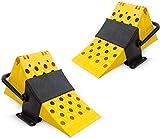 MGF Camion - Protezione scorrevole, scarpa da camicia, cunei per freno, 6500 kg, rimorchio, roulotte, rimorchio, rimorchio, rimorchio, colore: giallo, auto