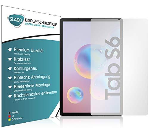 Slabo 2 x Bildschirmschutzfolie für Samsung Galaxy Tab S6 Bildschirmschutz Schutzfolie Folie Crystal Clear KLAR