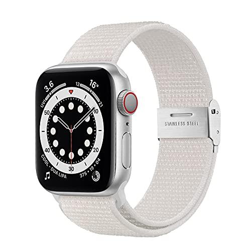 Netolo Solo Loop Compatibile con Cinturini Apple Watch 44mm 42mm 40mm 38mm, Cinturino in Nylon...
