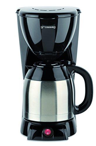 Grossag Kaffeeautomat mit Edelstahl-Thermokanne KA 36.17 - Für 10 Tassen - Edelstahl-Thermokanne- Durchbrühdeckel mit Ausgießfunktion - 1000 Watt - Antirutschfüße