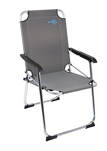 Bo-Camp - Silla de Camping Plegable, Color Negro