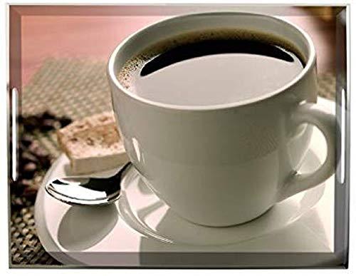 Emsa 507598 Tablett mit Cup of Coffee Dekor, Größe 40 x 31 cm, Classic