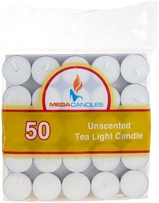 50 pcs Japan's largest assortment Unscented Tea Light Candle in - White Max 64% OFF OF Bag 24 CASE