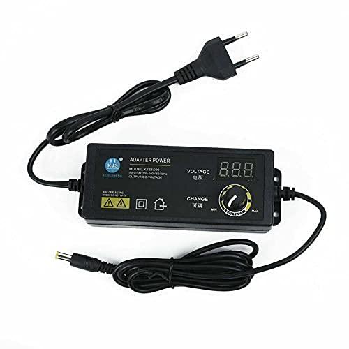 ATIN Fuente de alimentación enchufable 60W transformador DC3V 36V fuente de alimentación conmutada interruptor ajustable