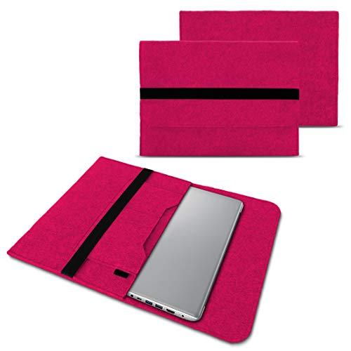 NAUC Notebook Tasche Hülle kompatibel für Lenovo Yoga C930 900 900 S 910 510 520 530 710 720 730 13,3-14 Zoll Filz Sleeve Schutzhülle Filz, Farben:Pink