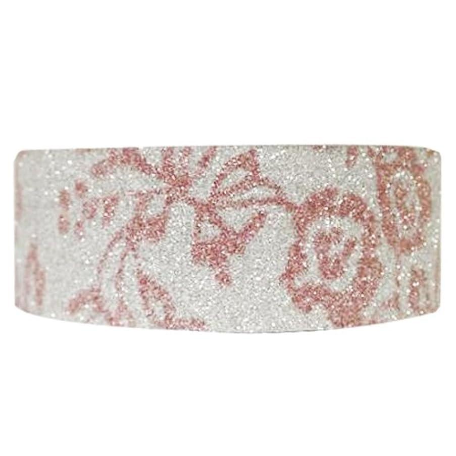 Wrapables Shimmer Washi Masking Tape, Pink Flora