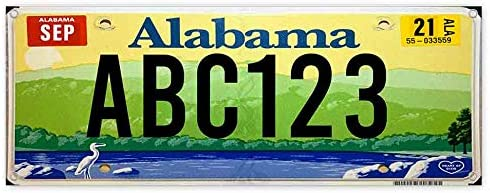 License Plate Alabama Customizable 13 oz Banner Heavy-Duty Vinyl Single-Sided with Metal Grommets
