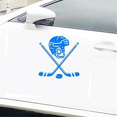 Fahrername Aufkleber Auto Persönlichkeit Eishockey Helm Lustige Auto Aufkleber 15 Cm x 15,6 Cm Für Auto Laptop Fenster Aufkleber