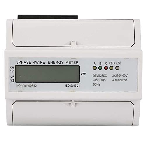 Medidor de energía eléctrica digital trifásico 230/400V Medidor de energía de carril...