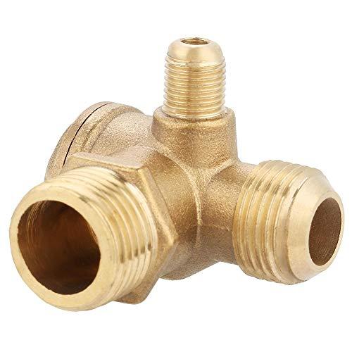 Compresor de Valvula de Retencion - Rosca Macho de Laton Compresor de Aire Valvula de Retencion de Piezas de Repuesto Dorado