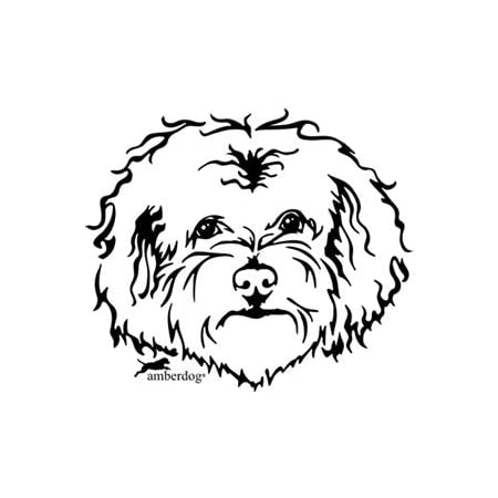 Amberdog Autoaufkleber Bolonka Kopf Atk0117 Auto Aufkleber Wohnmobil Wohnwagen Hundekopf Küche Haushalt