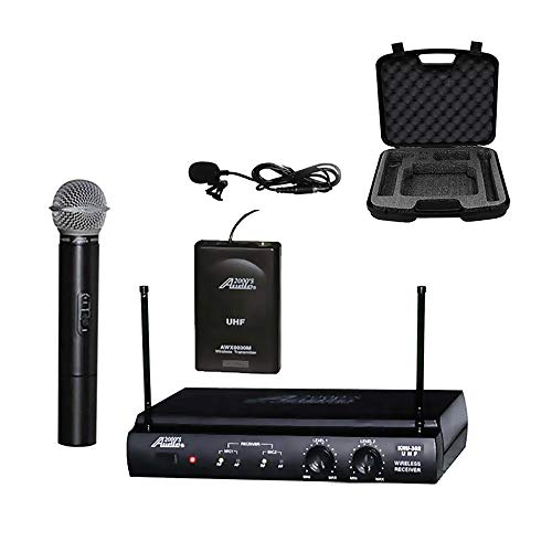 audio 2000s wireless headsets Audio 2000s UHF Wireless Microphone with Handheld and Lavalier Microphone