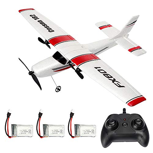 RC Plane 2.4GHz 2CH Remote Control Airplane Ready to Fly, Gliding Aircraft Model Easy to Fly for Kids Beginner with 2 Extra Batteries