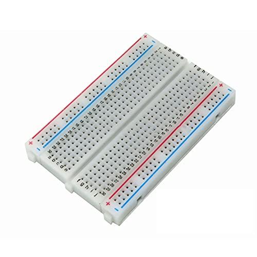 Shuxiang-Placa PCB 1pcs 400 puntos Placa de pan sin soldadura, tablero de prueba PCB de la tabla de plantas, 400 orificios 8.5x5.5cm Placa experimental de empalme combinada Para proyecto electrónico
