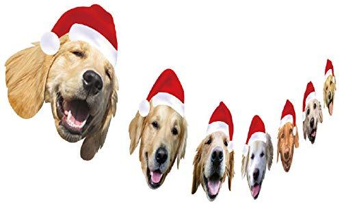 Golden Retriever Christmas Garland, Dog Christmas Hanging Decoration