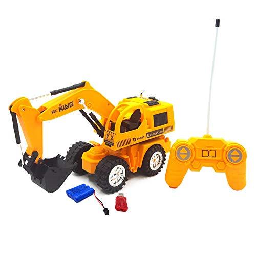LJSHU Niño y niña teledirigido inalámbrico Excavadora luz Recargable excavación Excavación Nieve Arena niños Jugar Equipo