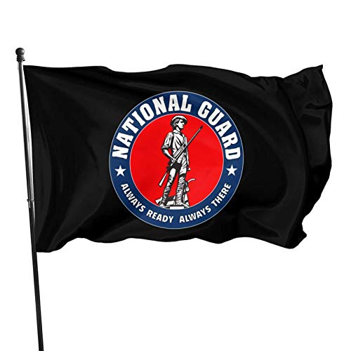 AOOEDM Bandierina decorativa della bandiera del giardino Seal of The National Guard Bureau of The United States Flag 3x5 feet Sturdy, Durable, Indoor/Outdoor, Garden, Brass Grommet, high-Level Flag Wi