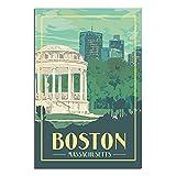 ZHBIN Massachusetts Vintage-Reise-Poster,